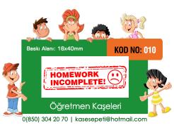 Öğretmen Kaşeleri Kod 010