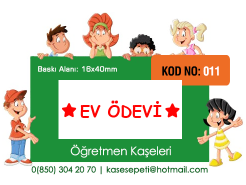 Öğretmen Kaşeleri Kod 011