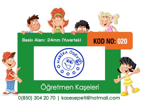 Öğretmen Kaşeleri Kod 020