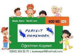 Öğretmen Kaşeleri Kod 025